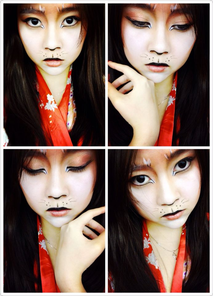 Make up, Halloween, Kitsune, Fox tale, Styling  Kindly visit ( http://lov3yyui.tumblr.com ) for description of you like it, Thank you ~: