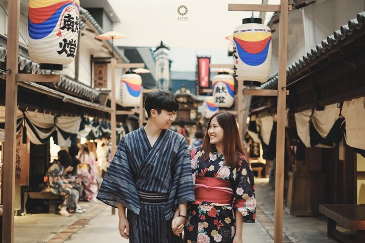 "Traditional Prewedding from Japanese Old Town Street ""Whatever our souls made of, his and mine are the same"" . . Location Japanese Old Town Sreet, JAPAN Photograph by @alvinfauzie Check our website for the other photos at www.alvinphotography.co.id"