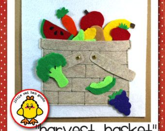 Harvest Basket Quiet Book Page