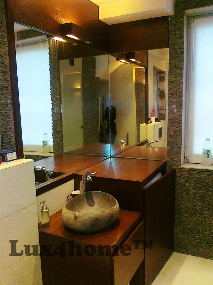 Standing Stone. Stone bathroom Lux4home™. Lava stone 10x30 cm