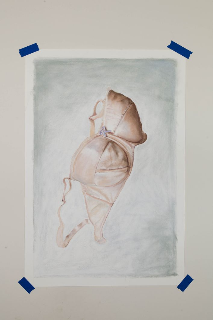 Michiel Pelerents, artist: BraPastel on paper, 65x100cm. Photo by Cedric Verhelst.