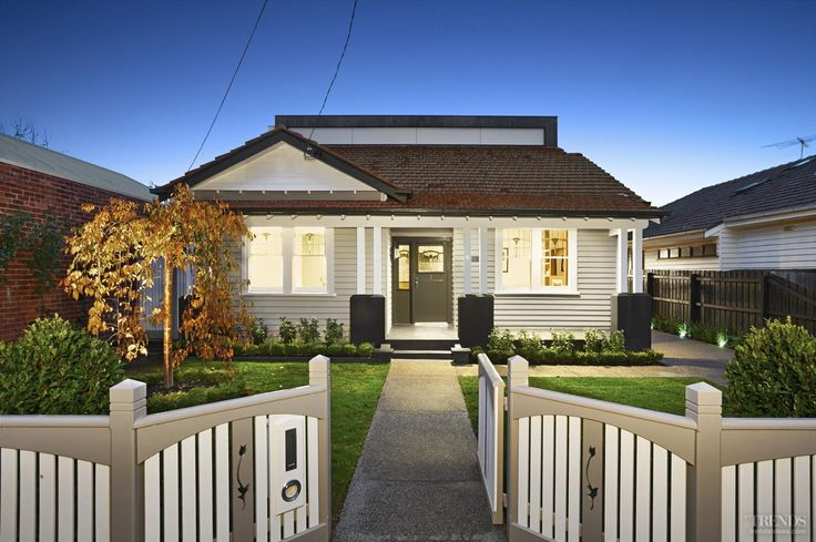 Modern addition to traditional California bungalow