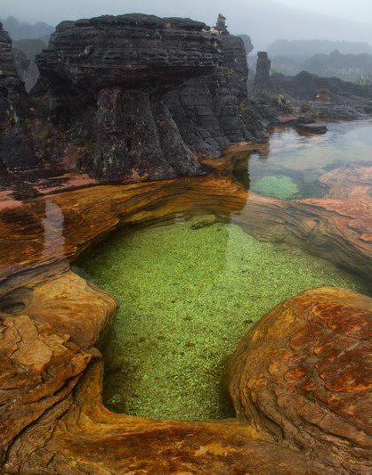 Jacuzzi Pools, Mount Roraima, Venezuela…                                                                                                                                                                                 Mais