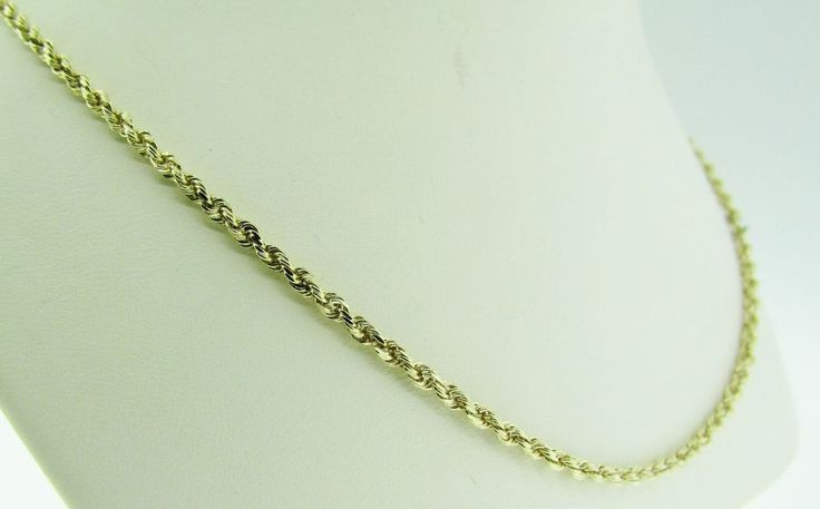 """14 K gold 25.5"""" long rope chain necklace. Vintage.  #Chain"""