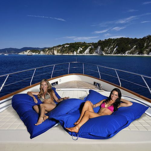 Relaxing on the deck of your motor yacht, or lazing away the day on the ocean?  These floating bean bags from Bean Bags R Us are the answer!