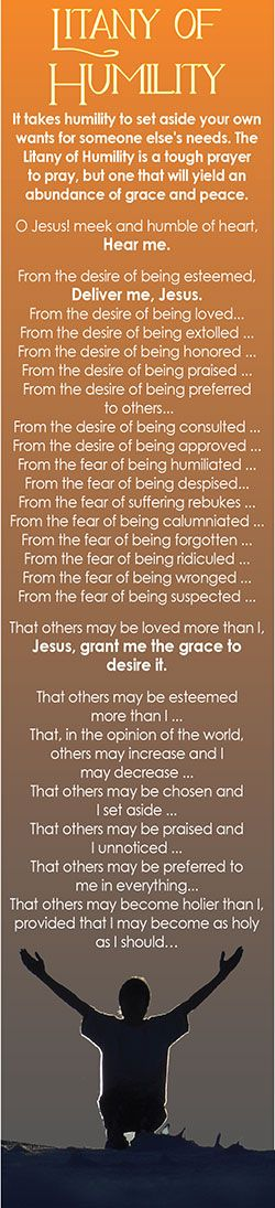 Feeling cranky? Perturbed? Litany of Humility - what a beautiful way to achieve an attitude adjustment.