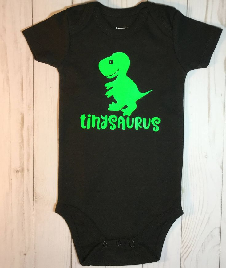 dinosaur/baby shower gift/tinysaurus/babysaurus/Gender Neutral Baby Clothes/Black and Green/Body Suit/Baby Boy gift/Baby Girl Gift by sunnyvilledesigns on Etsy https://www.etsy.com/listing/554008701/dinosaurbaby-shower
