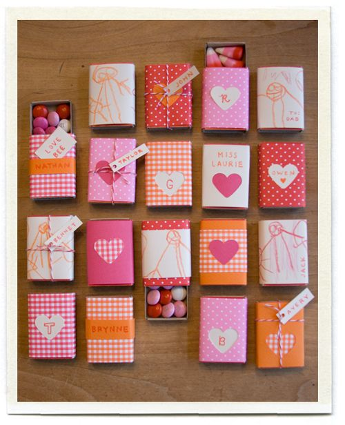 Matchbox Valentines: Valentines Crafts, Wedding Favors, Matchbox Crafts, Valentines Gifts, Valentines Day, Clever Ideas, Matching Boxes, Weights Loss, Matchbox Valentines