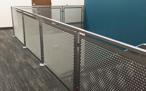 Image result for balcony with perforated steel panel