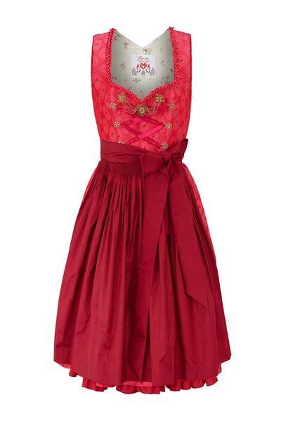 Julia Trentini: Designer Dirndl Jolanda pink bei Alm Couture online kaufen