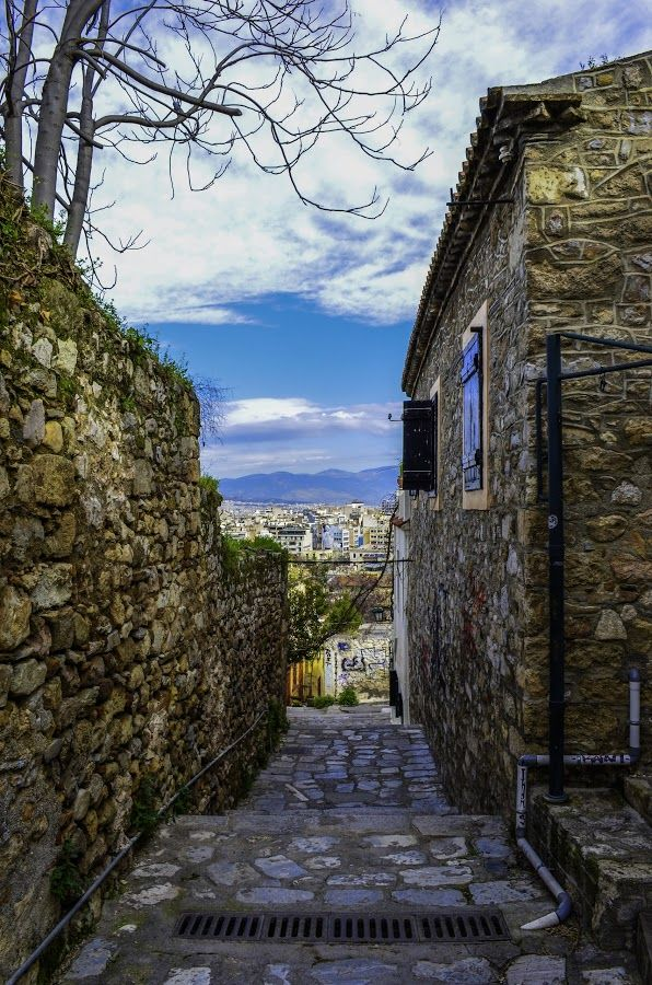 View from Anafiotika to Athens