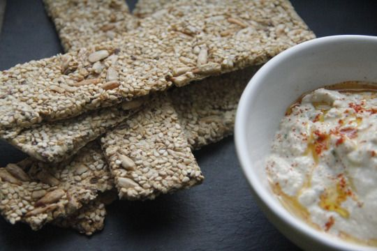 Flax and Sesame Crackers