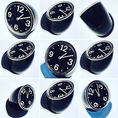Orologio Tavolo Vintage CRONOTIME RITZ ITALORA P. MANZU' 1968 Nero Funzionante   eBay