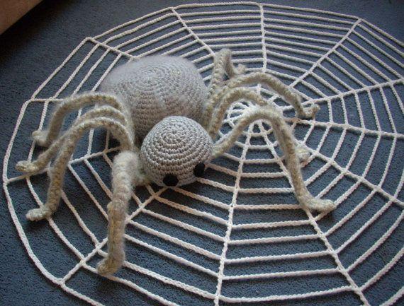 Halloween-häkeln-Spinne. Halloween Spinnennetz häkeln. von Agorkapl