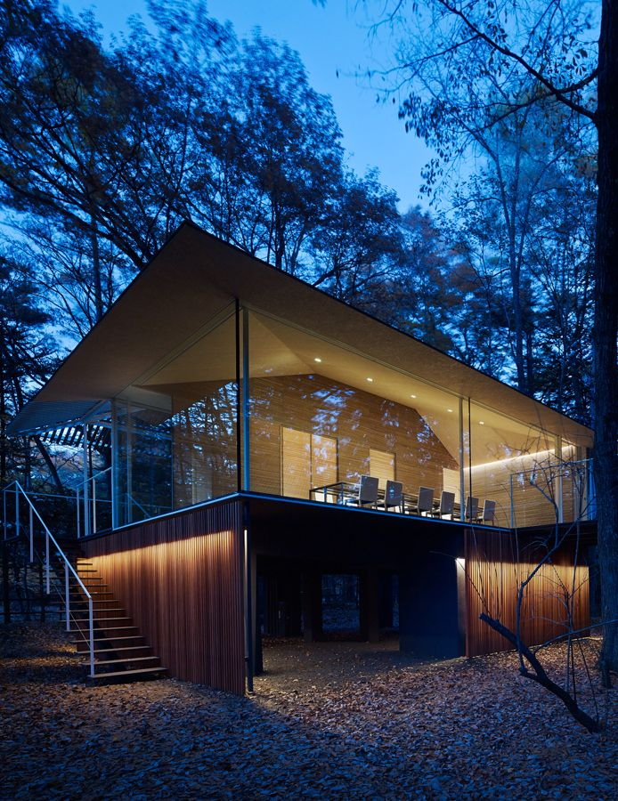 Kengo Kuma – Extend and Incline to forest houses, East Japan 2013