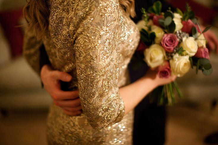 A Gold Wedding Dress for an Elegant, Candlelit Winter Wedding | Love My Dress® UK Wedding Blog