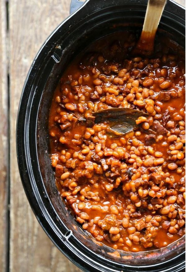 Slow Cooker Breakfast Baked Beans | AllFreeSlowCookerRecipes.com