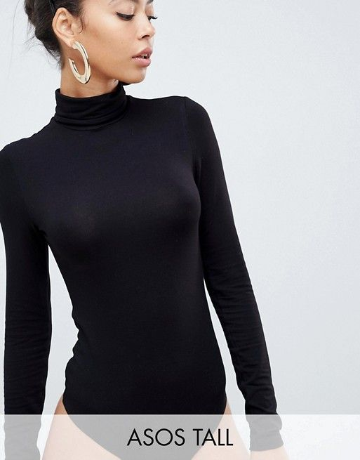 07922a4f511c DESIGN Tall turtleneck long sleeve body in black in 2019 | Clothes | ASOS, Turtle  neck, Fashion