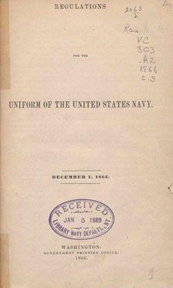U.S. Navy Uniform Regulations, 1866