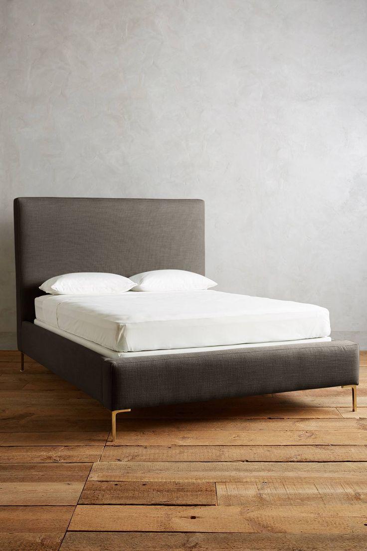 Wooden furniture box beds - Basketweave Linen Edlyn Bed