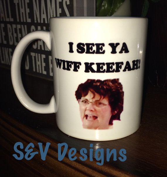 *Who doesnt love Teen Moms Jenelle and her mom Barbara, aka Babs, and her wickeedd awesome accent? Now you can have your very own Babs, on a mug. **Mug says I See You Wiff Keefah! - one of my favorite Babs lines ever. **Mug is sublimated meaning it is both dishwasher and microwave safe!  * Two sided print ** Please note, colors may vary slightly due to monitor resolutions.  * I custom design as well so if you need something done, from any of the cups/mugs I design with, please send me a ...