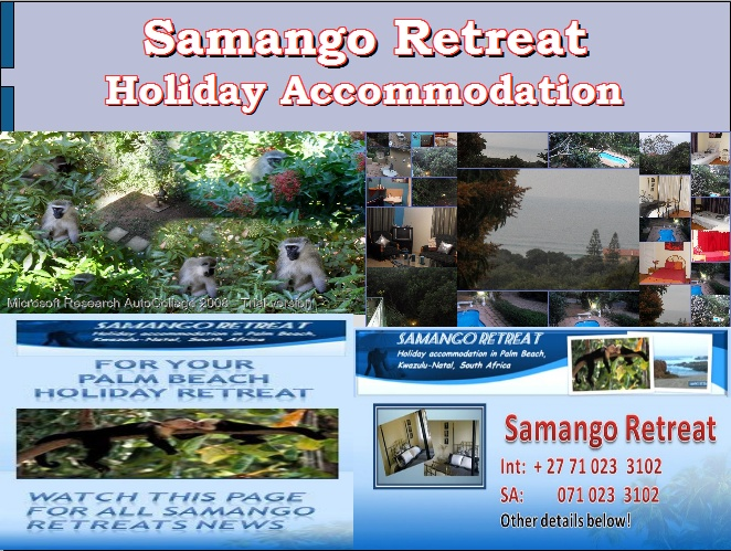 """Samango Retreat Special - Last week of  school holiday still available at R650 pd. 3 Bedroom 2 bathroom. Lock-up  garage. """"LIKE"""" page and get regular updates."""