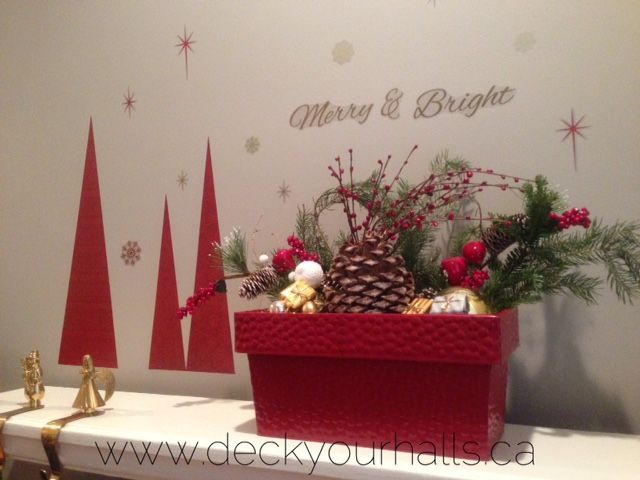 Love a POP of RED at Christmas! Decorating homes and biz for the Holidays in Toronto.  www.deckyourhalls.ca