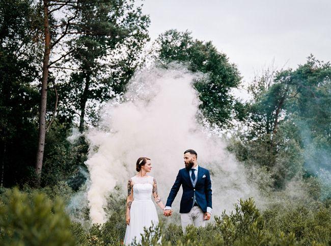 Bos, rookbommen, tattoo's; wat een plaatje! //Foto: Hanke Arkenbout.