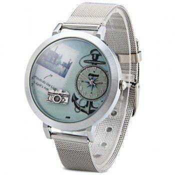 Fiana reloj de cuarzo A68 Modelo de la cámara esfera redonda correa de acero para la Mujer para Vender - La Tienda En Online IGOGO.ES