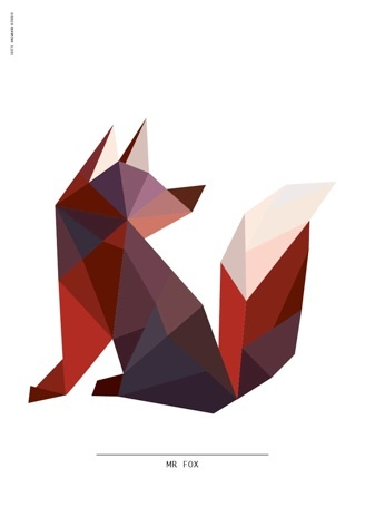 Mr Fox Poster by Ditte Maigaard who runs the Ditte Maigaard Studio, Store and Online Shop