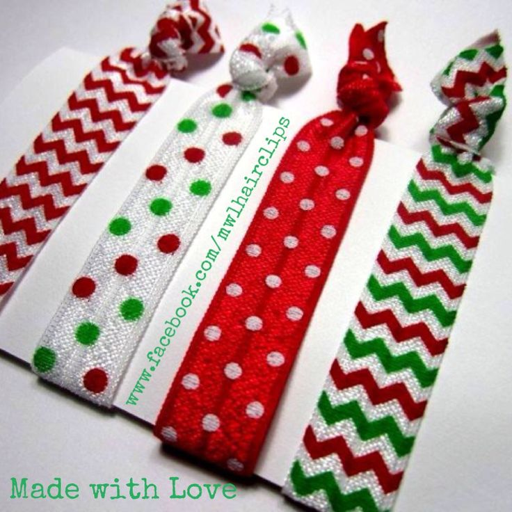 Christmas elastic hair ties- the new craze! Love these:)