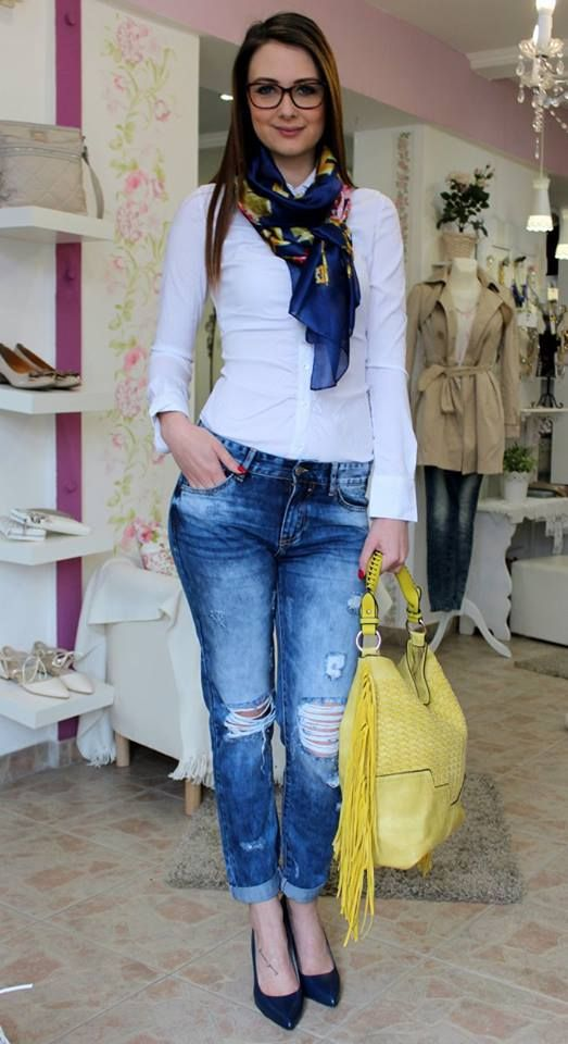 Boyfriend staccato style jeans