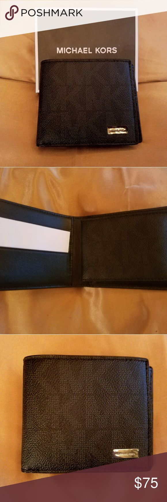 Michael Kors Wallet NWT New with tags! Black leather monogramed mens bifold wallet. Michael Kors Accessories