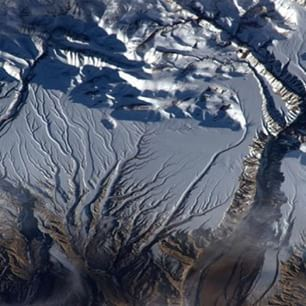 The Himalayas from the ISS.
