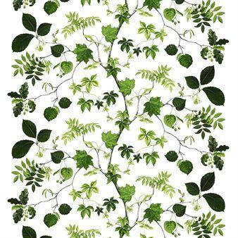 Skapa en härlig grönskande känsla i ditt hem med Liv tyg från svenska Arvidssons Textil. Tyget är tillverkat i bomull och har ett ljuvligt mönster med slingrande blad i grönt, ritat av formgivaren Mialotta Arvidsson Mars. Tyget passar ypperligt att använda som duk men kan även användas till att sy gardiner eller kuddfodral!
