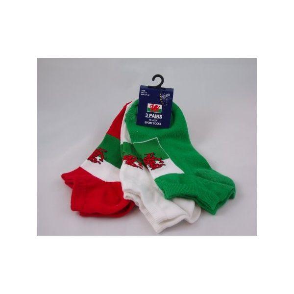 welsh flag items | Wales Flag Training Socks - from Union Jack Wear UK