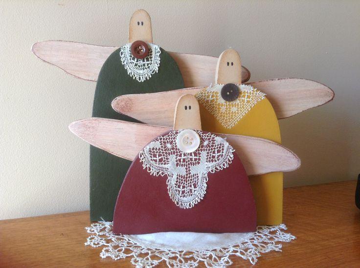 Three Sisters wooden ornament. Designed and made by Kylie Bailey.