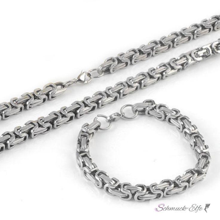 SET Königskette & Armband aus 316 L Edelstahl UNISEX im Etu