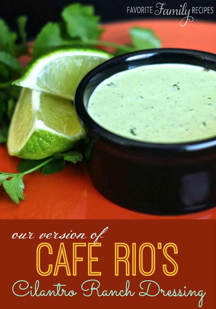 This Cafe Rio Cilantro Ranch Dressing is so stinkin' good! My husband loves this ranch so much he smothers his burrito with it. Yeah-- it is THAT good! #caferio #cilantroranch