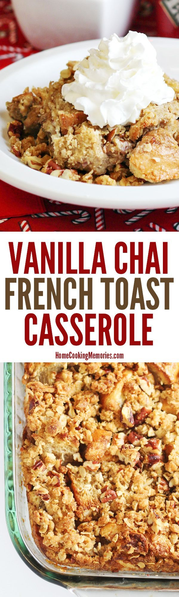 Overnight Vanilla Chai French Toast Bake Recipe - this easy casserole uses vanilla chai tea bags for its awesome flavor! Make it the night before and serve for special occasions or a holiday breakfast or brunch.