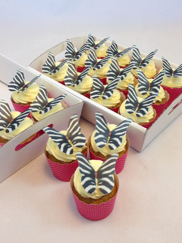 Pink Zebra Butterfly Cupcake Kit. Click here http://www.icingonthecakekits.com/item_156/Pink-Zebra-Butterfly-Cupcake-Kit.htm $39.95