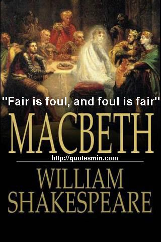 macbeth william shakespeare Quiz theme/title: macbeth by william shakespeare - act i description/instructions act i of macbeth lays the groundwork for everything else that will happen in the play.
