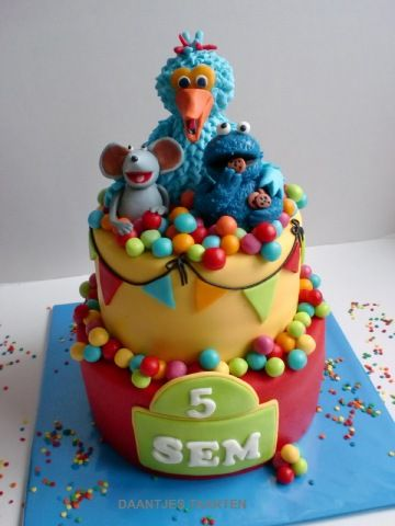 Sesame Street. really colorful