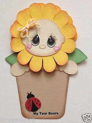 Premade Paper Piecing Flower Girl Spring by My Tear Bears Kira   eBay