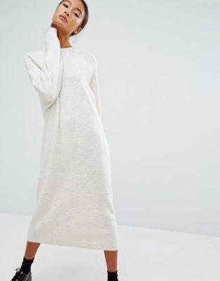 Трикотажное платье-джемпер миди Monki