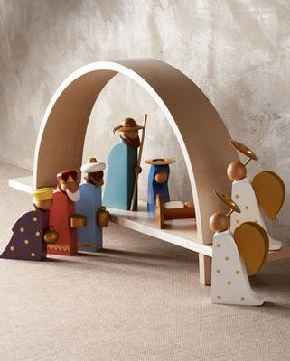 Modern nativity scene. I wish I could find this somewhere!