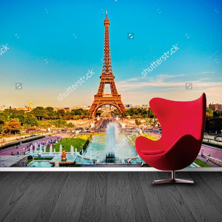 Fotobehang Zomer in Parijs | Maak het jezelf eenvoudig en bestel fotobehang voorzien van een lijmlaag bij YouPri om zo gemakkelijk jouw woonruimte een nieuwe stijl te geven. Voor het behangen heb je alleen water nodig!   #behang #fotobehang #print #opdruk #afbeelding #diy #behangen #zomer #parijs #frankrijk #wereldstad #stad