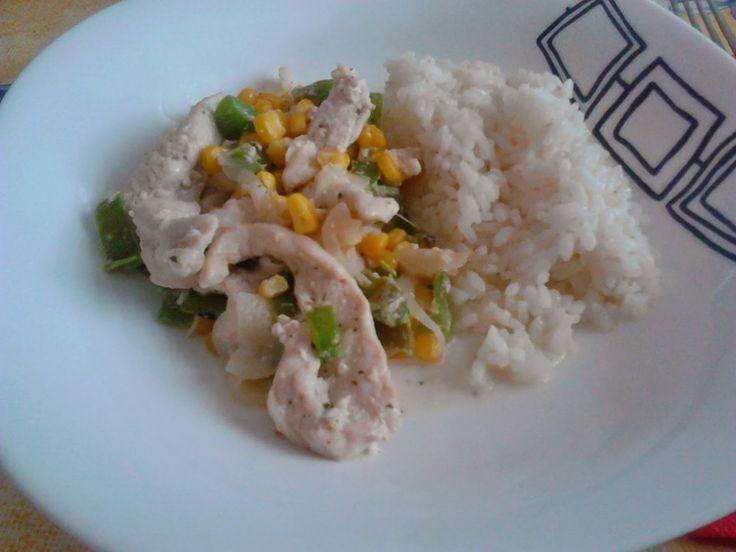 Cocina y recetas de anna arroz blanco con tiras de pollo - Comidas con arroz blanco ...