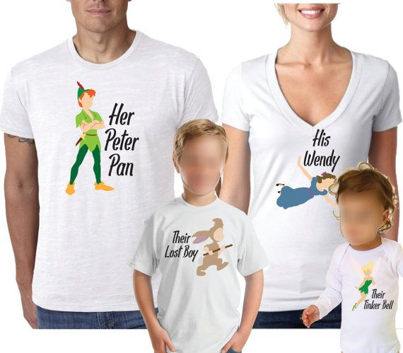 Disney Shirts Peter Pan Shirt Family Shirts by AlaneMaineDesigns