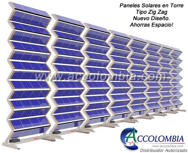 Panel Solar Vertical - Panel Solar 3D - Torre Solar 3D